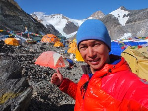 Tsang, fully geared, conquered Mt Everest in 2009