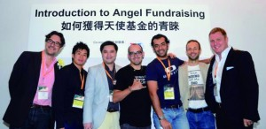 Teddy Lo Ming-tao (second from left) thinks app makers should be more aggressive and active in seeking investors