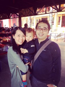 Lam with her son and husband.