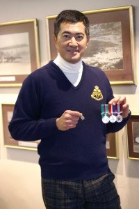 Dunn shows the medals from his service in the regiment