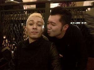 Chan with artist Pakho Chau Pak-ho
