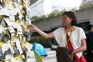 Wong supports Umbrella Movement.