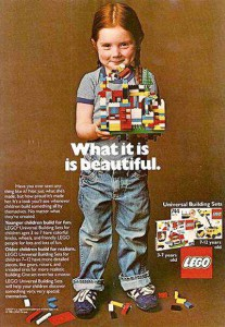 Lego's 1981 ad (source: internet)