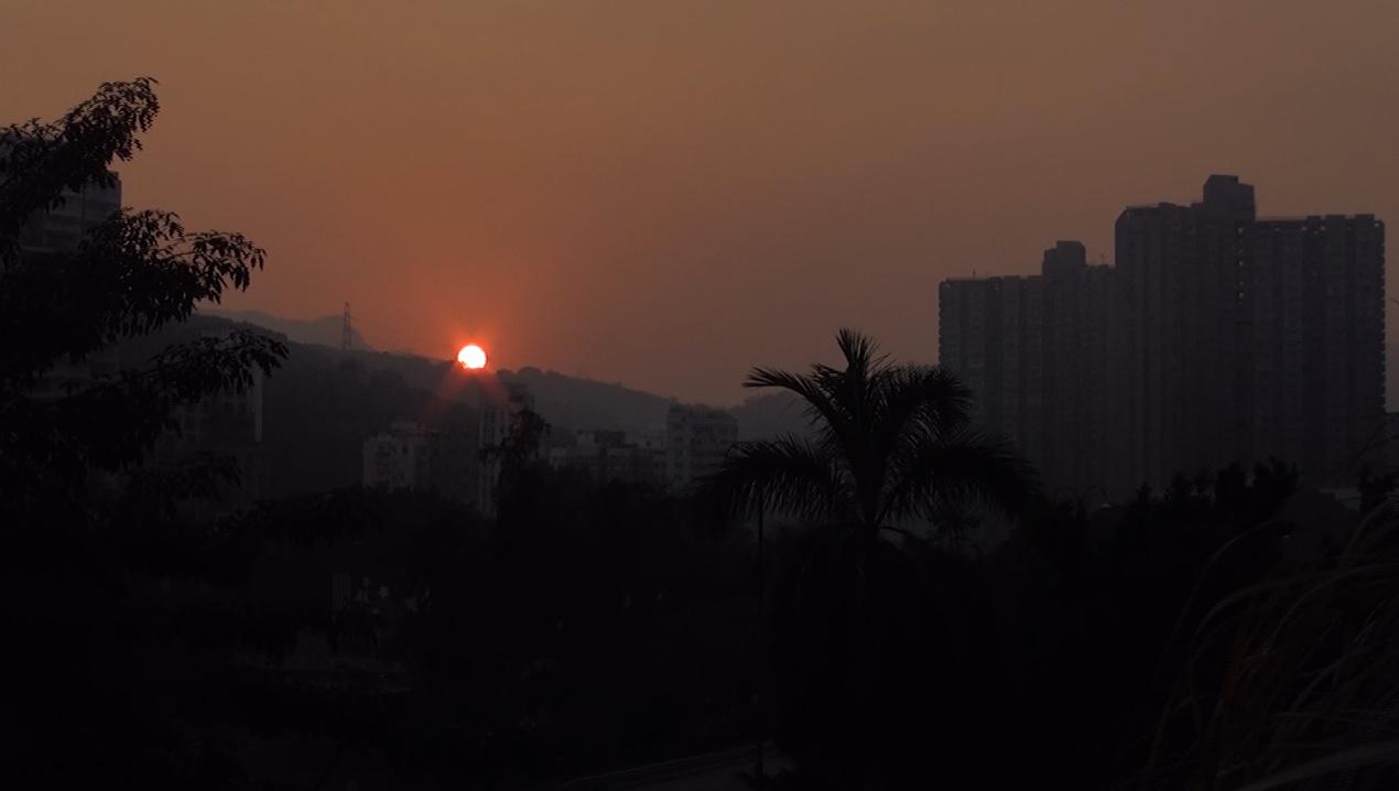 Hong Kong work life balance sunset