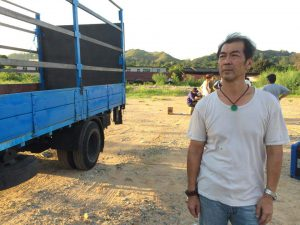 Leung playing Go Gor, a recyling truck driver, in Lion Rock 2015