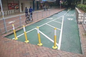 Cycling track outside Tai Po Plaza