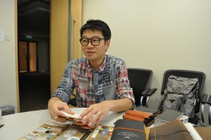 Patrick Ng explains concepts and stories in his journals