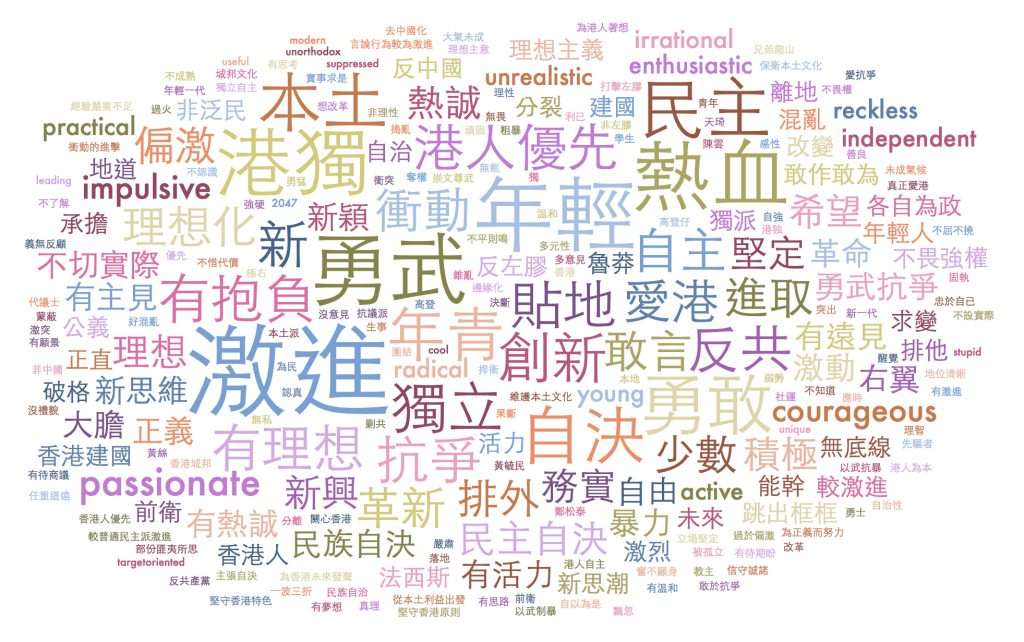 Respondents were asked to use three words to describe localists. These are the words they used.
